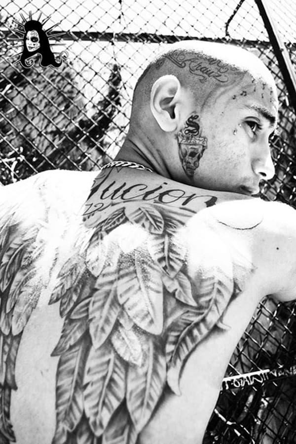back gang tattoo