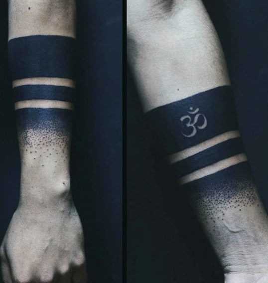 Armband Guys Blackwork Om Tattoos