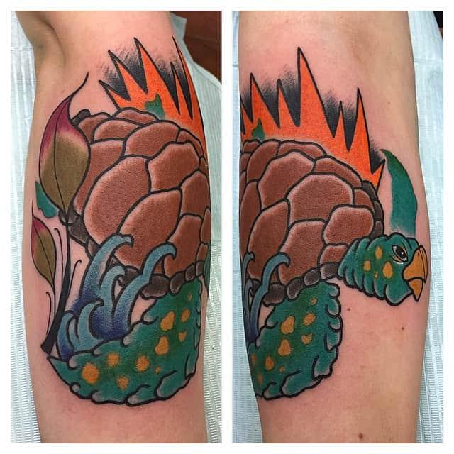 red turtle tattoo
