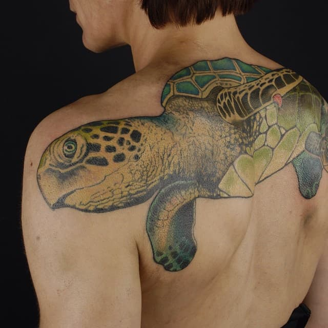 150 Popular Sea Turtle Tattoo Designs And Meanings February 2019