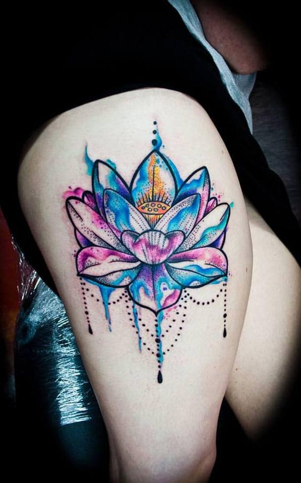 Lotus Flower Tattoo by Jay Van Gerven