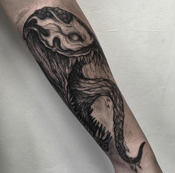 Venom Tattoo by Parvick