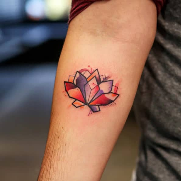 Geometric Lotus Flower by Georgia Grey