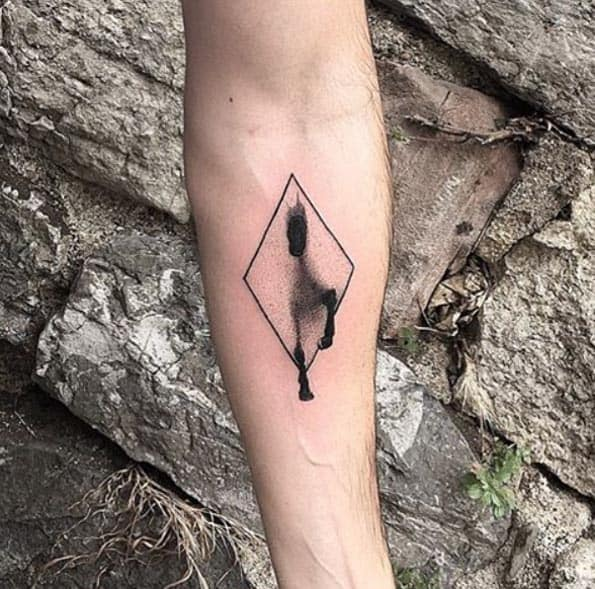 Horse in Portal Tattoo by Resul Odabas