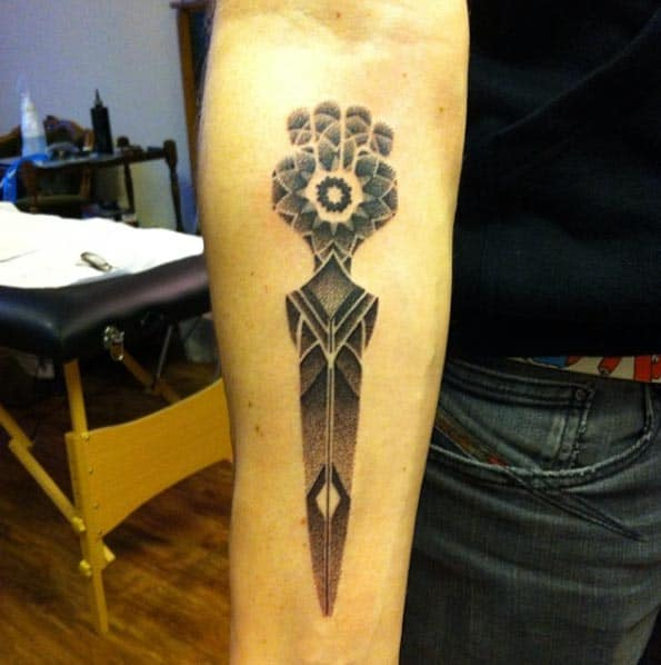 Dotwork Dagger Tattoo by Lauren Marie Sutton