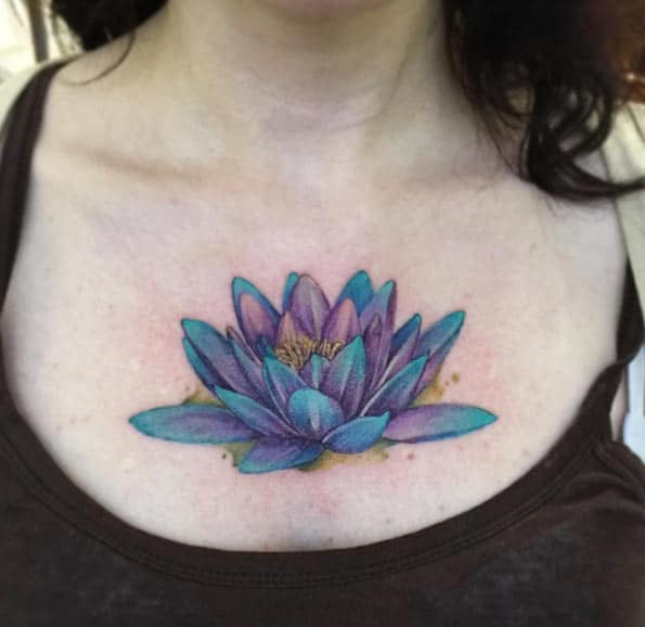 Lotus Flower Tattoo by June Jung
