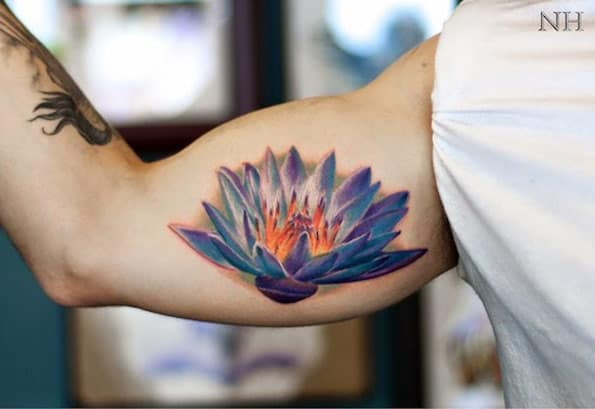 Lotus Flower Tattoo Design by Nick Hart
