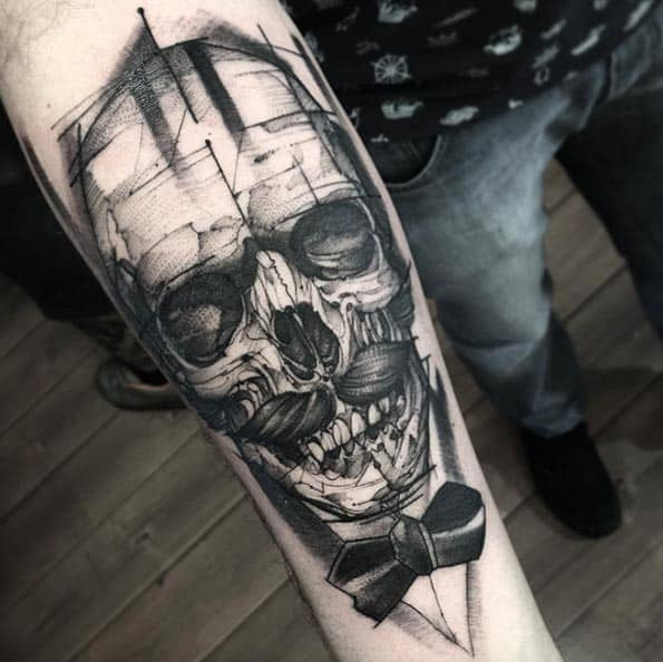 Skull Tattoo by Otheser