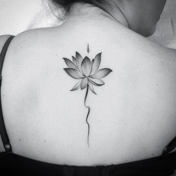Lotus Flower Tattoo by Liz