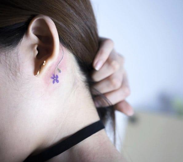 Small Purple Flower by Sol Art