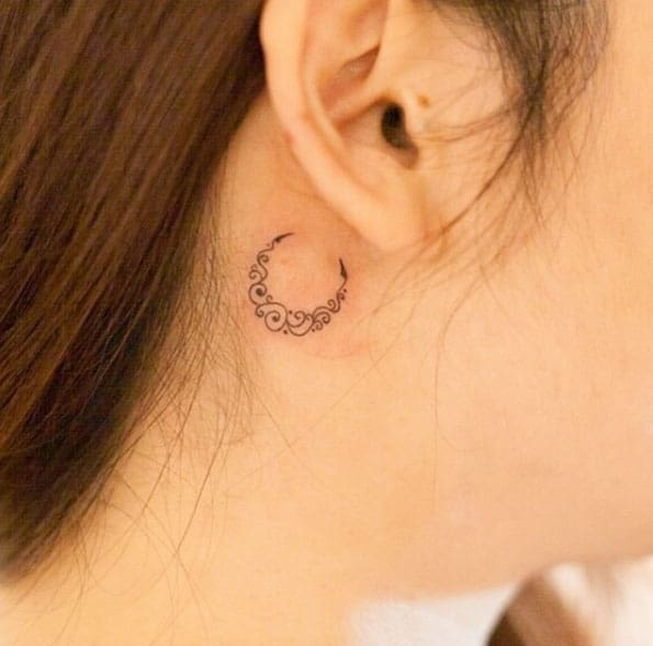 Crescent Moon Tattoo by River