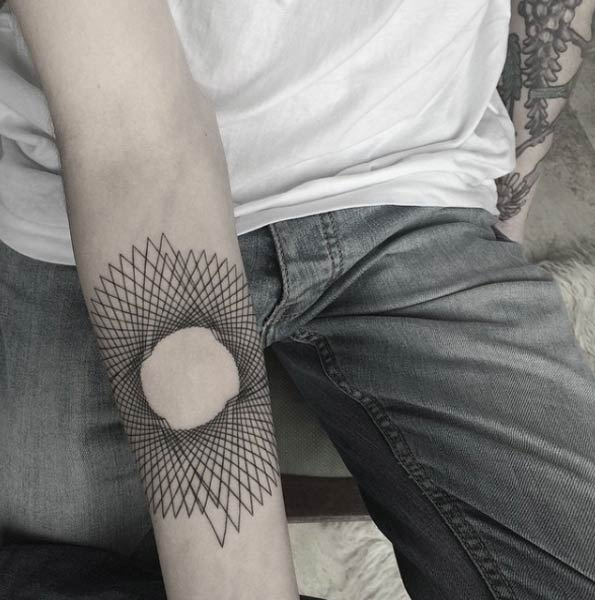Geometric Forearm Tattoo by Balazs Bercsenyi
