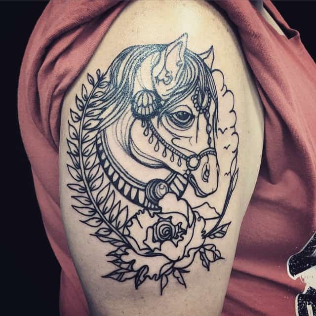 150 best horse tattoos and meanings may 2018. Black Bedroom Furniture Sets. Home Design Ideas