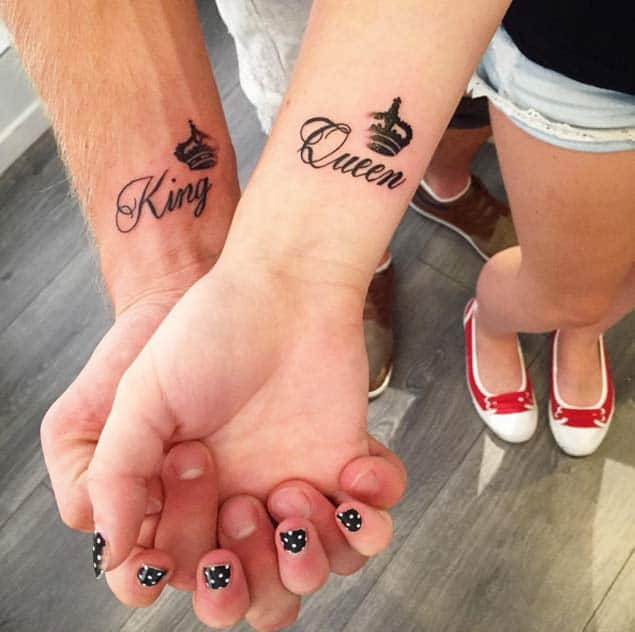 King & Queen Couple Tattoos by Sharya Shine