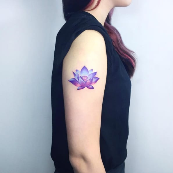 Mystic Lotus Flower Tattoo by IDA