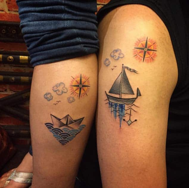 Ship Couple Tattoos by Greesh Bhambhani