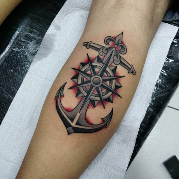 170 most popular anchor tattoos and their meanings. Black Bedroom Furniture Sets. Home Design Ideas