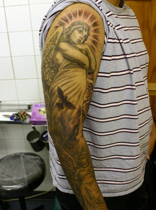 Angel Tattoo On Sleeve