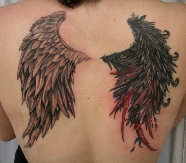 Angel Wing Tattoos On Back