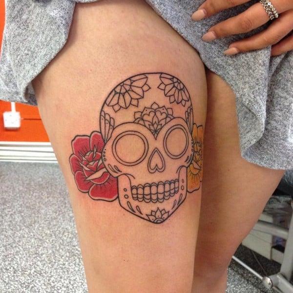 Best Sugar Skull Tattoo