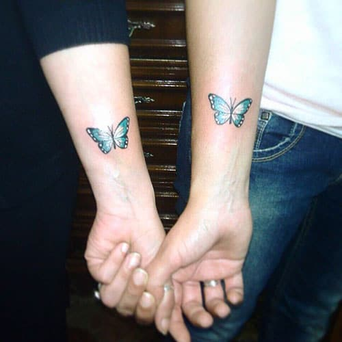 Couple Butterfly Tattoo on Arm