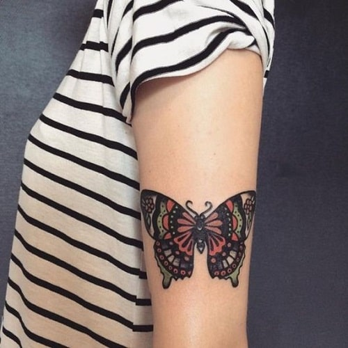 tattoo of butterfly on arm