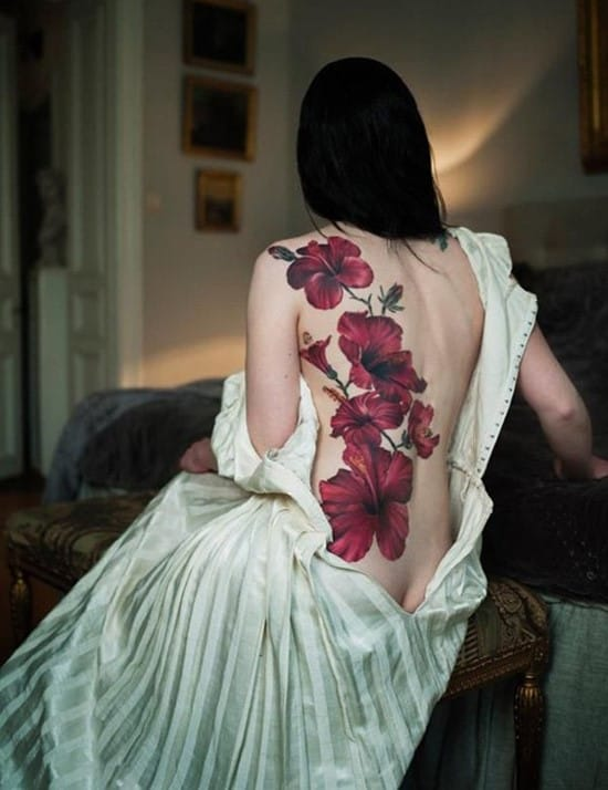 hibiscus-tattoo-on-back