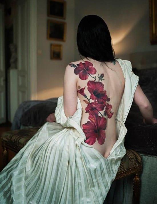 hibiscus-tattoo-on-back