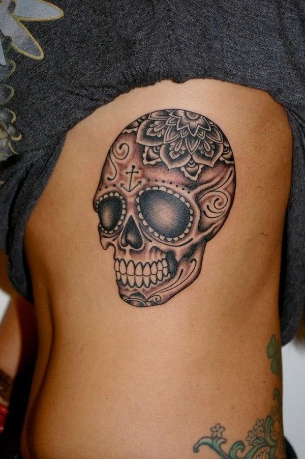 Side Sugar Skull