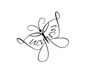 Simple Butterfly Outline for Women Named Lucy