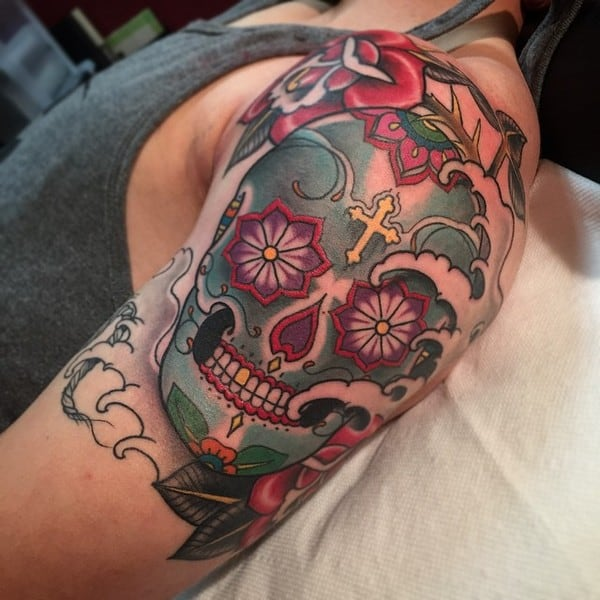 Sugar Skull Tattoo Designs Men