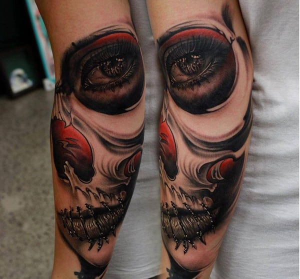 Sugar Skull Tattooing Sleeve 3D