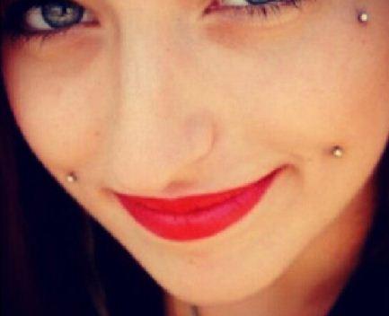 Anti Eyebrow And Cheek Piercing Image