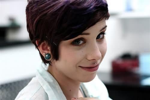 Right Ear Lobe And Medusa Piercing For Girls