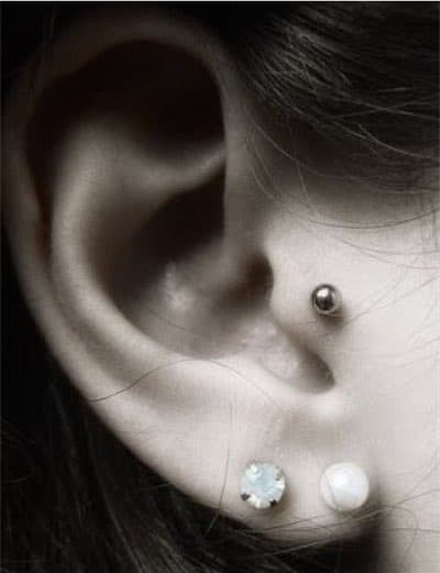 how to take care of a tragus piercing