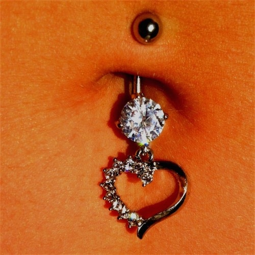Heart Shaped Belly Button Ring Jewelry