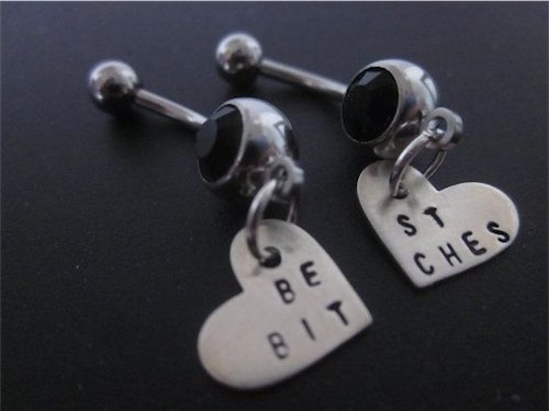 Best Bitches Belly Button Rings Set