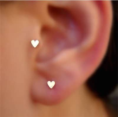 Cute Heart Tragus Piercing