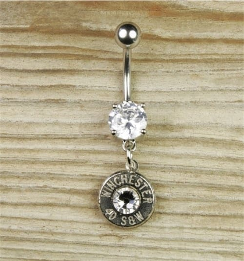 Dangle Bullet Belly Button Ring