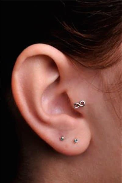 Infinity Handcrafted Sterling Silver Tragus Piercing