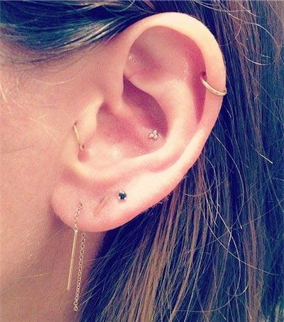 Left Tragus Ring Piercing