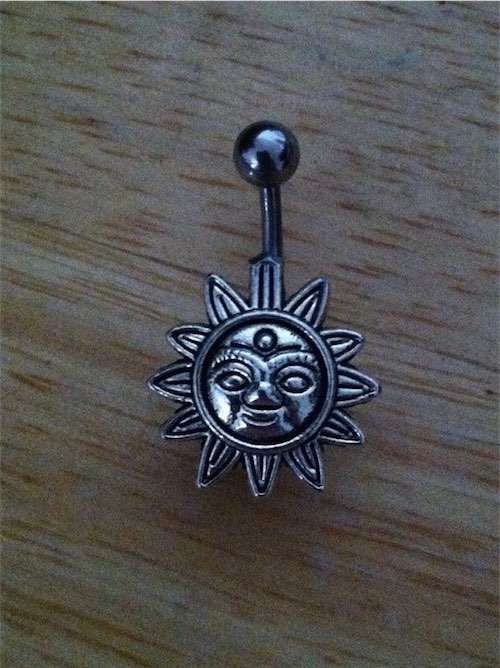 Handmade Sun Steel Belly Button Ring