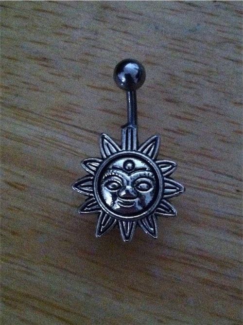 Handmade Sun Steel Belly Button Ring