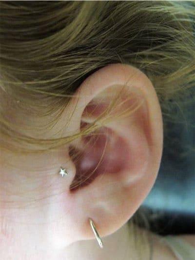 Single Tragus Piercing