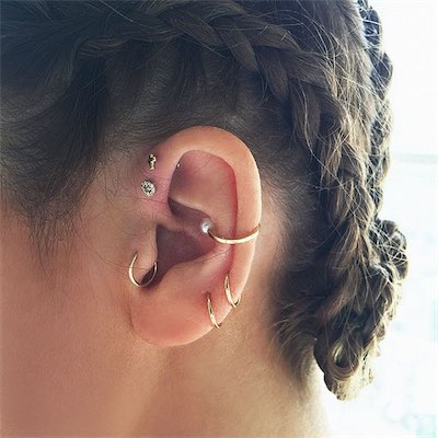 60 tragus piercing pictures jewelry pain healing aftercare. Black Bedroom Furniture Sets. Home Design Ideas