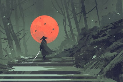 samurai-with-sword-in-forest