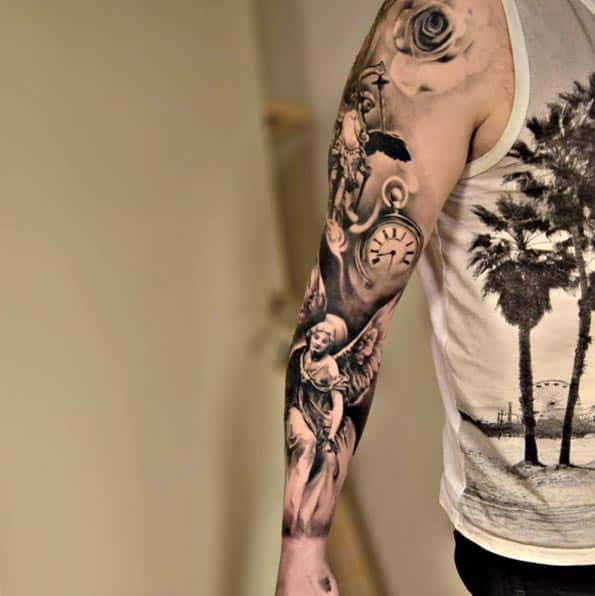 200 best sleeve tattoos for men ultimate guide november 2018. Black Bedroom Furniture Sets. Home Design Ideas