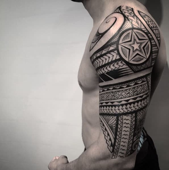 New School Tribal Sleeve by Nissaco