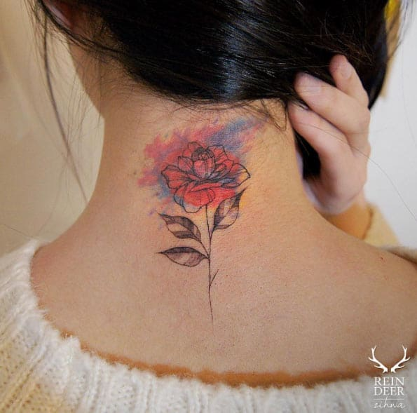 Watercolor Rose by Zihwa