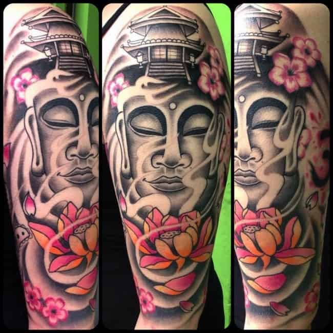 5749f9c9c5aed 100 Mystical Buddha Tattoos Meanings (July 2019)